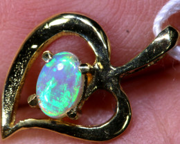 4.50 CTS  CRYSTAL OPAL GOLD PENDANT  OF-2530