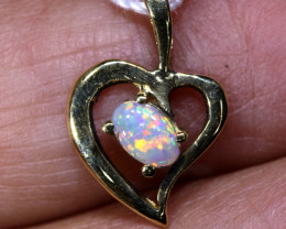 4.710 CTS  CRYSTAL OPAL GOLD PENDANT  OF-2531