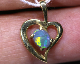 4.70 CTS  CRYSTAL OPAL GOLD PENDANT  OF-2529