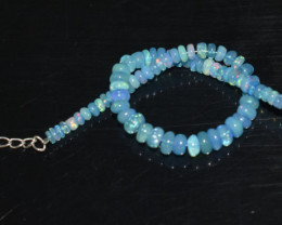 19.95 CT OPAL BRACELET MADE OF NATURAL ETHIOPIAN BEADS STERLING SILVER OBB5