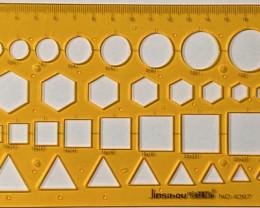 NO RESERVE!! 20cm GeometricOpalTemplate [30016] 53FROGS