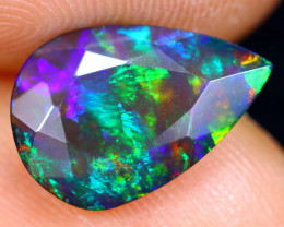 1.31cts Natural Ethiopian Welo Faceted Smoked Opal / HM1273