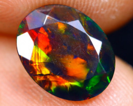 1.20cts Natural Ethiopian Welo Faceted Smoked Opal / HM1274