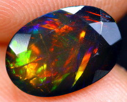 1.38cts Natural Ethiopian Welo Faceted Smoked Opal / NY325