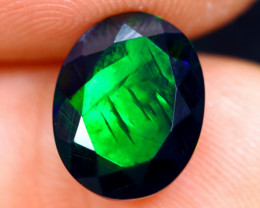1.83cts Natural Ethiopian Welo Faceted Smoked Opal / NY335