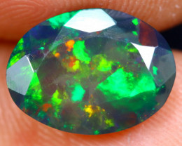 1.66cts Natural Ethiopian Welo Faceted Smoked Opal / NY342