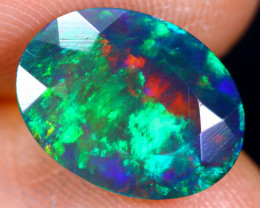 2.09cts Natural Ethiopian Welo Faceted Smoked Opal / HM1253