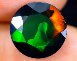 4.58cts Natural Ethiopian Welo Faceted Smoked Opal / HM1258