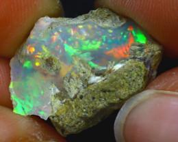 10.56Ct Multi Color Play Ethiopian Welo Opal Rough H1112/R2