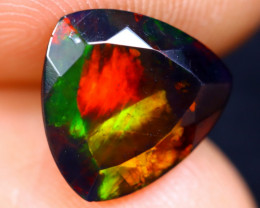 1.55cts Natural Ethiopian Welo Faceted Smoked Opal / NY376