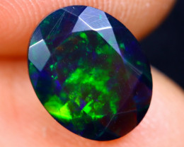 1.40cts Natural Ethiopian Welo Faceted Smoked Opal / NY380