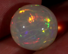 18.56CT~STUNNING ETHIOPIAN WELO OPAL SPHERE~INSANE FULL SATURATION OF FIRE!
