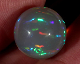 11.84CT~STUNNING ETHIOPIAN WELO OPAL SPHERE~INSANE FULL SATURATION OF FIRE!