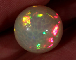 11.48CT~STUNNING ETHIOPIAN WELO OPAL SPHERE~INSANE FULL SATURATION OF FIRE!