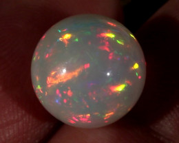 8.02CT~STUNNING ETHIOPIAN WELO OPAL SPHERE~INSANE FULL SATURATION OF FIRE!