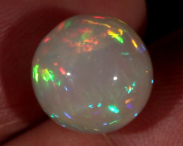 7.37CT~STUNNING ETHIOPIAN WELO OPAL SPHERE~INSANE FULL SATURATION OF FIRE!