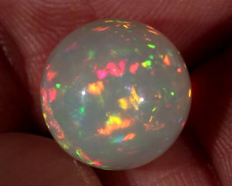 7.07CT~STUNNING ETHIOPIAN WELO OPAL SPHERE~INSANE FULL SATURATION OF FIRE!