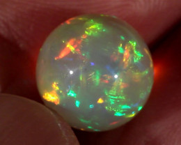 8.41CT~STUNNING ETHIOPIAN WELO OPAL SPHERE~INSANE FULL SATURATION OF FIRE!
