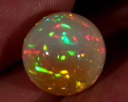 13.59CT~STUNNING ETHIOPIAN WELO OPAL SPHERE~INSANE FULL SATURATION OF FIRE!