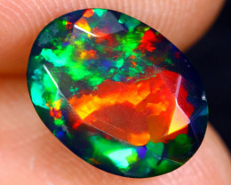 2.10cts Natural Ethiopian Faceted Smoked Welo Opal / BF4462