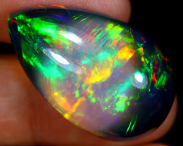 30.07cts Natural Ethiopian Smoked Welo Opal / BF4455