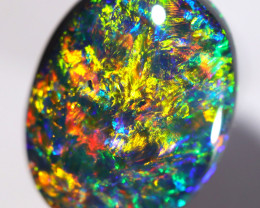 5.40 CTS BLACK OPAL STONE LIGHTNING RIDGE [CS465]