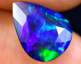 2.30cts Natural Ethiopian Faceted Smoked Welo Opal / HM1308