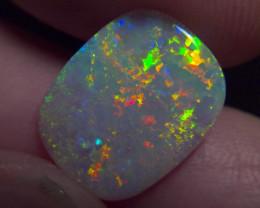 3.83ct Lightning Ridge Solid crystal Opal, bright rainbow stone