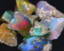 34.77Ct Multi Color Play Ethiopian Welo Opal Rough J1416/R2