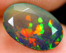 1.68cts Natural Ethiopian Welo Faceted Smoked Opal / NY464