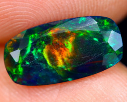 1.28cts Natural Ethiopian Welo Faceted Smoked Opal / NY465
