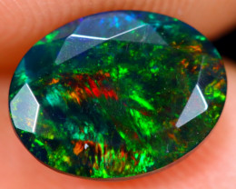 1.10cts Natural Ethiopian Welo Faceted Smoked Opal / NY470