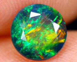 0.80cts Natural Ethiopian Welo Faceted Smoked Opal / NY475