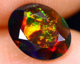 0.80cts Natural Ethiopian Welo Faceted Smoked Opal / NY476
