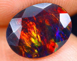 1.30cts Natural Ethiopian Welo Faceted Smoked Opal / NY484
