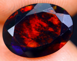 2.00cts Natural Ethiopian Welo Faceted Smoked Opal / NY486