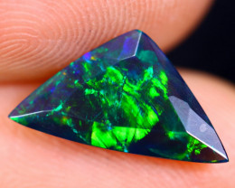 1.05cts Natural Ethiopian Welo Faceted Smoked Opal / HM1334