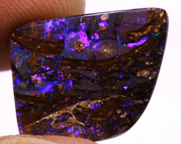 """8.85  cts """"Electric Blue""""  Koroit Wood Fossil Opal Stone DO-821"""