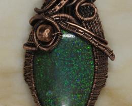 NO RESERVE!! Arwen-Andamooka Matrix opal Pendant [30223] Gopi