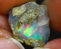 8.12Ct Multi Color Play Ethiopian Welo Opal Rough H1715/R2