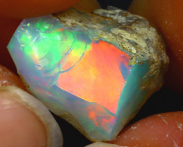 8.87Ct Multi Color Play Ethiopian Welo Opal Rough H1720/R2
