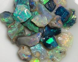 Multicolour Super Bright Saturated Small Size Gem Rough#2041