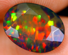 1.91cts Natural Ethiopian Faceted Welo Smoked Opal /BF4544