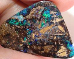 14.0 ct Gem Blue Green Pinfire Confetti Pattern Queensland Boulder Opal