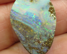 28cts, BOULDER OPAL~LOVELY MULTI COLOUR STONE.