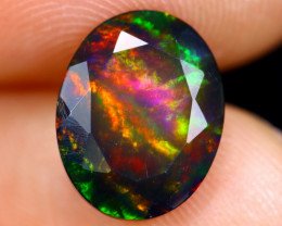 2.03cts Natural Ethiopian Faceted Smoked Welo Opal / HM1346