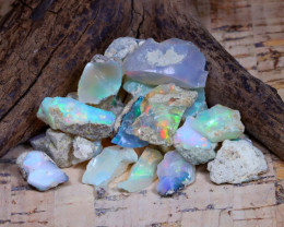 Welo Rough 31.11Ct Natural Ethiopian Play Of Color Rough Opal D1602