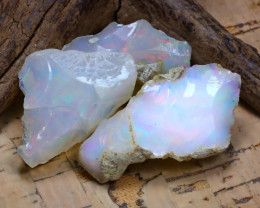 Welo Rough 44.58Ct Natural Ethiopian Play Of Color Rough Opal D1604