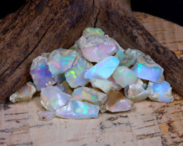 Welo Rough 37.86Ct Natural Ethiopian Play Of Color Rough Opal D1605
