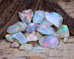 Welo Rough 29.19Ct Natural Ethiopian Play Of Color Rough Opal D1608